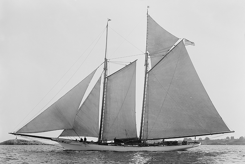 Schooner America with Max-Prop automatic feathering propeller