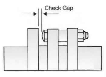 flexible shaft coupling gap check