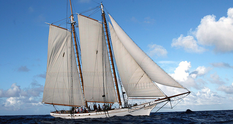 Schooner Spirit of South Carolina with Max-Prop automatic feathering propeller